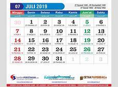 Kalender Juli 2019 Cetak Kalender 2019 harga Murah