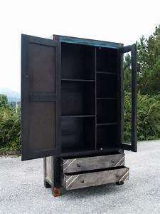 Tv Schrank Industrial : moderner schrank blau gr n industrial shabby style ~ Frokenaadalensverden.com Haus und Dekorationen