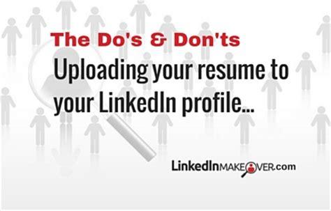 Upload Resume To Linkedin 2017 by Q A Should I Upload My Resume To My Linkedin Profile