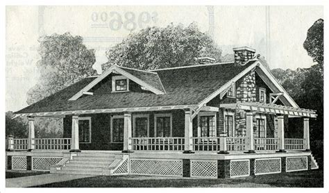 model p shown   sears catalog  modern homes   features  wrap  porch