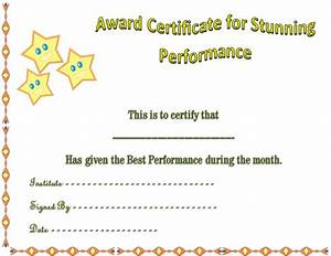 star award template pertaminico With star performer certificate templates
