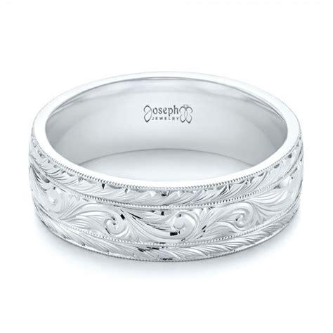 custom engraved men s wedding band 103458