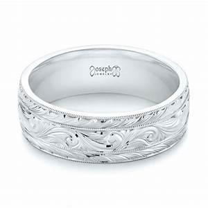Custom Hand Engraved Men39s Wedding Band 103458
