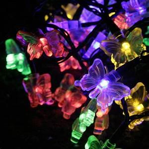 Guirlande Led Solaire Exterieur : guirlande solaire papillon 30 leds multicolores sur le ~ Edinachiropracticcenter.com Idées de Décoration