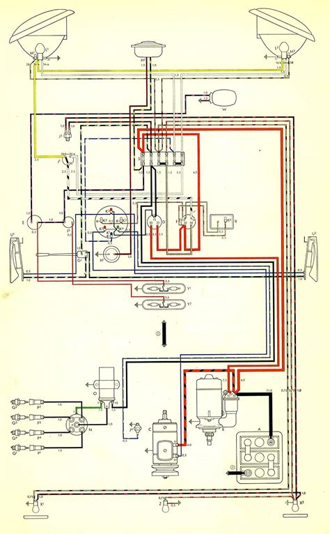 1965 Vw Starter Wiring Diagram by 1959 Wiring Diagram Thegoldenbug