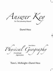 Hess  Answer Key To Lab Manual