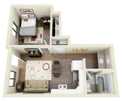 plan de maison avec cuisine ouverte le plan maison d 39 un appartement une pièce 50 idées