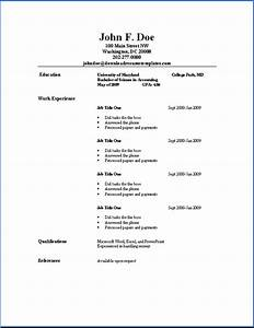 Basic resume templates download resume templates for Free resume template simple