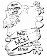 Coloring Mothers Pages Happy Printable Mother Sheets Cards Mom Colouring Boys Colors Doodle Flower Adults Breakfast sketch template