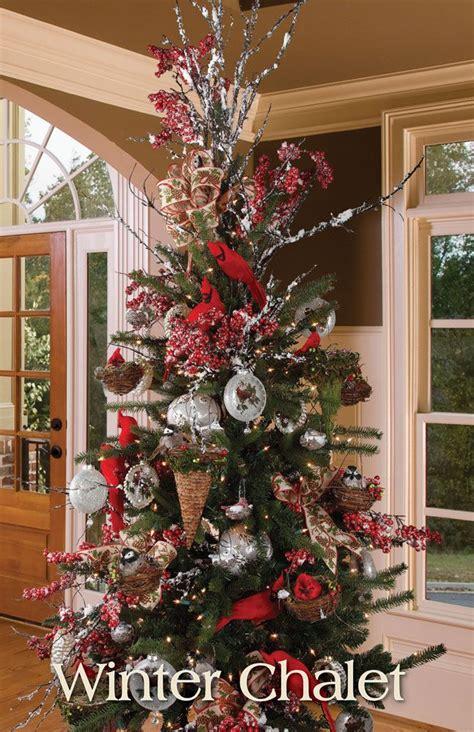 melrose designer christmas tree  winter chalet