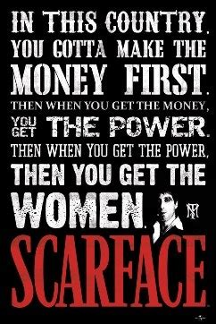 scarface  poster money power women wall poster