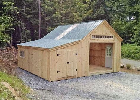 bay garage building  shed shed garage design