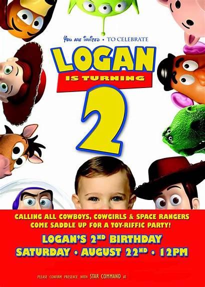Toy Story Birthday Invitations Party Invitation Logan