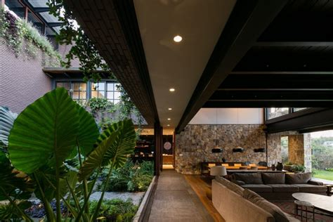 modern mexican build  tropical gardens