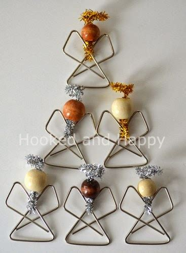 diy paperclip angel ornaments  idea king