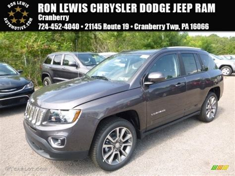 jeep compass 2017 grey 2017 granite crystal metallic jeep compass high altitude
