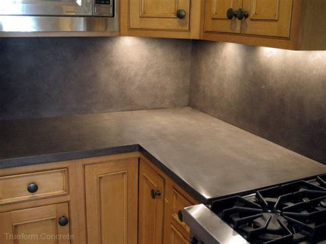 concrete backsplash kitchen remodel countertops