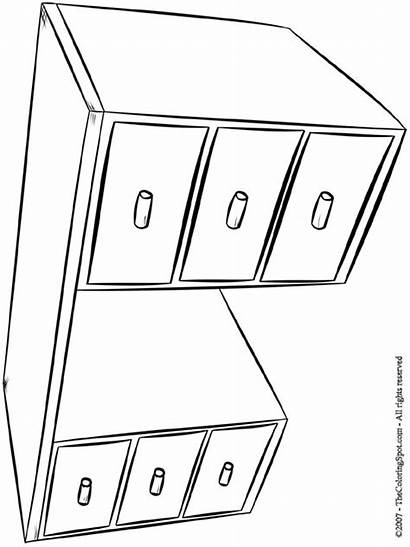Desk Coloring Pages Colouring Furniture Lightupyourbrain