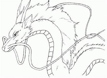 Spirited Away Coloring Haku Pages Sketch Clipart