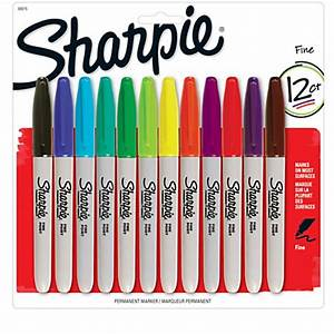 Sharpie Permanent Fine Point Markers Assorted Colors Pack ...