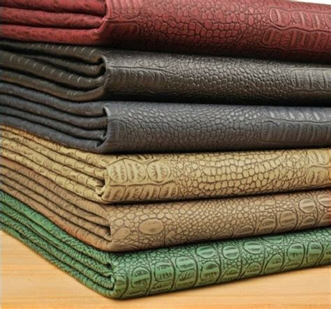 Where To Buy Leather For Upholstery by Half Yard Alligator Skin Embossed Faux Leather Fabric For