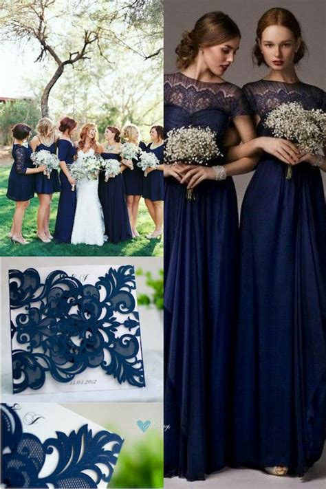 blue wedding color schemes navy blue wedding color schemes stunning ideas decor