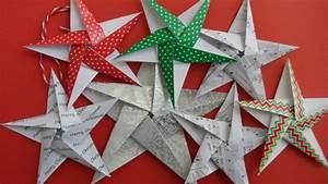 Origami Stern 5 Zacken : christmas themed 5 pointed origami stars ~ Watch28wear.com Haus und Dekorationen