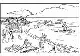Coloring Landscapes Beach Summer Sheet Crowded Pages Adult sketch template