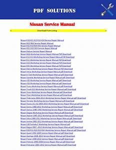 Nissan Workshop Service Repair Manual Pdf Download