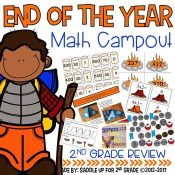 end of the year cout a 2nd grade math review by saddle up for 2nd grade