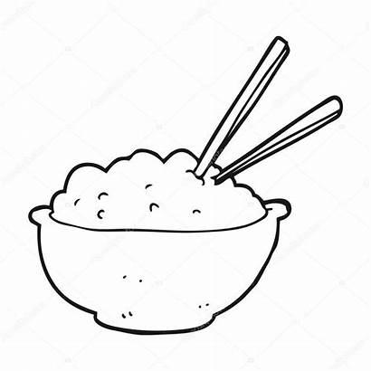 Rice Drawing Clipart Cartoon Bowl Vector Getdrawings