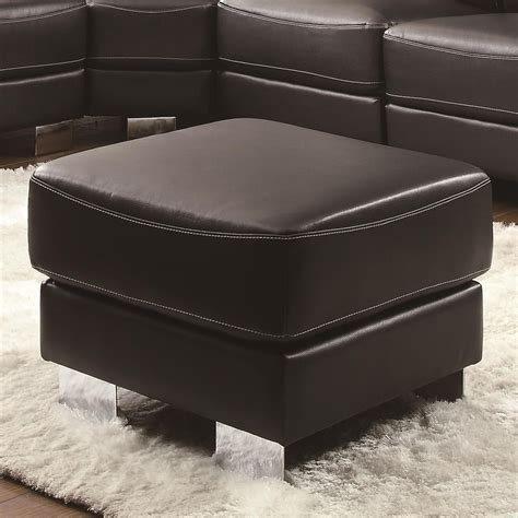ottoman with metal legs ralston contemporary ottoman with metal legs ottomans