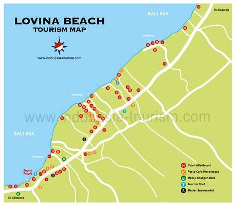 lovina beach bali map bali island indonesia tourism maps
