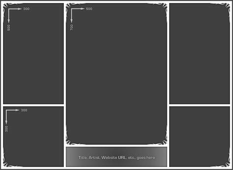4 Picture Collage Template by Photo Collage Template 02 By Neyjour On Deviantart