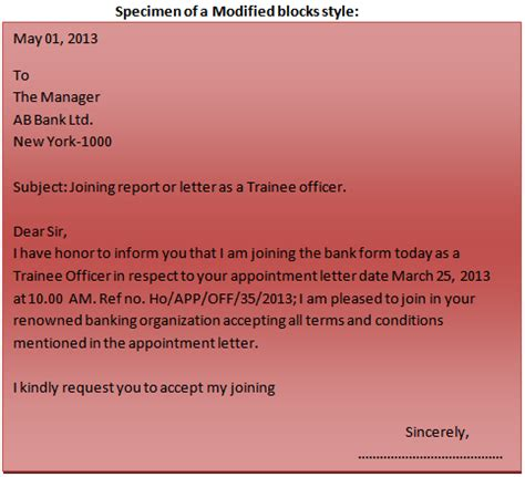 format   business letter