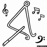 Triangle Coloring Pages Musical Instruments Notes Instrument Triangles Thecolor Drawing Activities Sheets Play Draw Musicals Drawings Shape Puerto sketch template