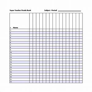 Free Grade Book Free 7 Sample Gradebook Templates In Pdf Ms Word
