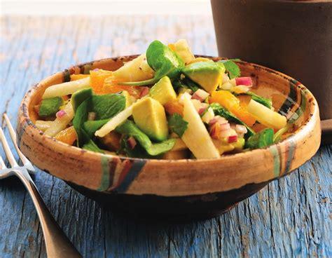 arugula avocado  jicama salad  citrus salsa