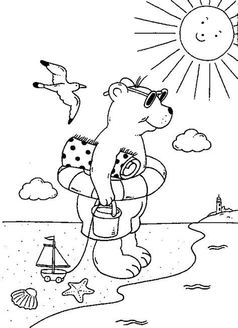 coloriage  imprimer  en vacances  la plage