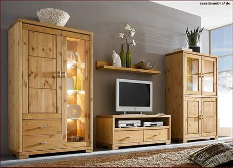 schlafzimmer komplett massivholz wohnwand groß highboard vitrine lowboard regal guldborg kiefer massiv gebeizt