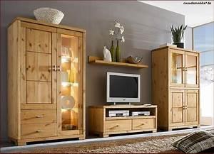 Wohnwand Bis 200 Euro : wohnzimmerm bel wohnwand holz kiefer massiv gebeizt ge lt ~ Frokenaadalensverden.com Haus und Dekorationen
