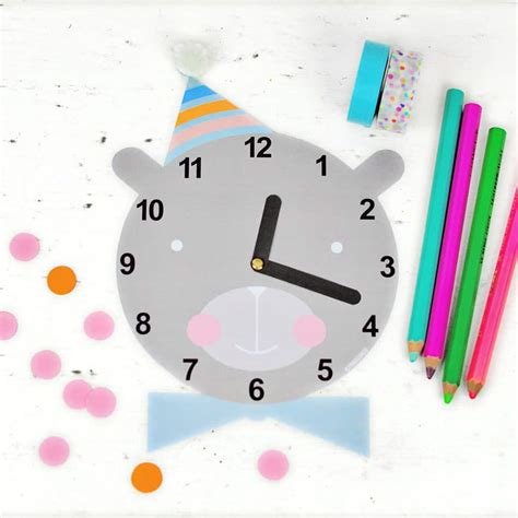 Clock Four Cute Free Printable Clock For Kids