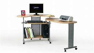 Computertisch Mit Rollen : computertisch twin in buche mit tastaturauszug und rollen 120 170 cm ~ Indierocktalk.com Haus und Dekorationen
