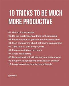 Lifestyle And More : 10 tricks to be much more productive ~ Watch28wear.com Haus und Dekorationen