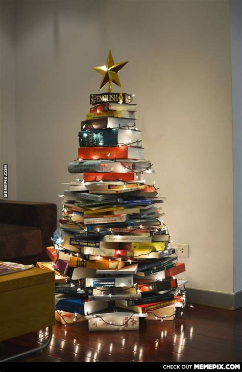 christmas tree made out of books holiday ideas pinterest