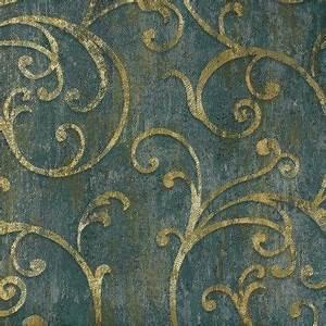 Tapete Petrol Muster : tapete barock struktur blau gr n gold tapeten rasch textil angelica 109536 online bestellen ~ Eleganceandgraceweddings.com Haus und Dekorationen