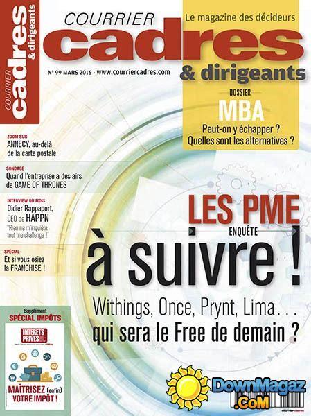 courrier cadres dirigeants mars 2016 no 99 187 pdf magazines magazines