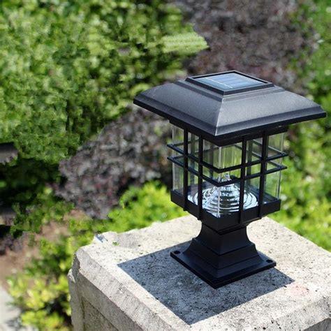 solar column lights new arrival solar pillar l outdoor bright led