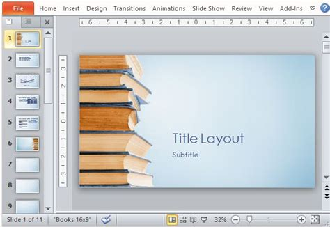 bookstack powerpoint template