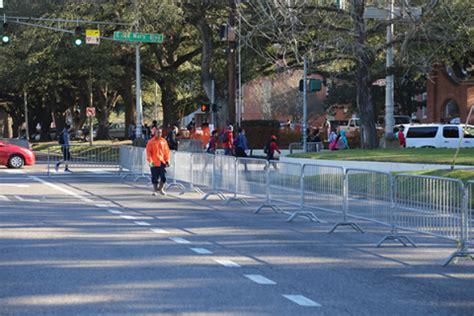 mardi gras parade barricades campus university
